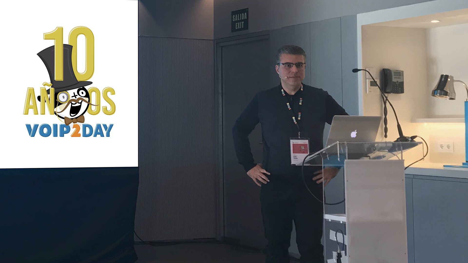 Iván Sixto during voip2day 2017 conference
