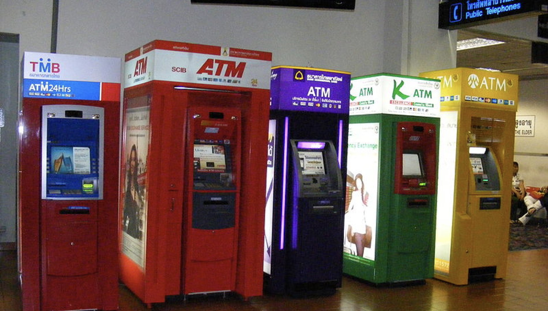Kiosks at an airport